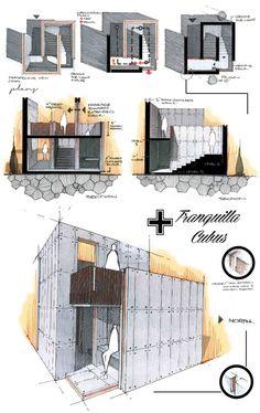 Tranquilla Cubus by Anique Azhar, via Behance