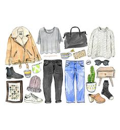 Scandinavian Style - signed fashion illustration print by Cindy Mangomini  I love Scandinavia and Scandinavian fashion and design. So when Oh! You Pretty Things Magazine asked me to draw my idea of Scandinavian Style I was pretty excited! $10