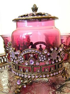 Beautiful Jeweled Jar