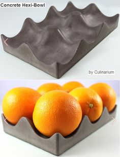 concrete hexi-bowl would be great to make this from an egg carton