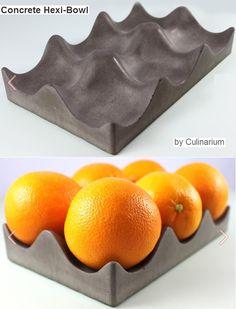 Oranges tray | Concrete product design | Concrete | design | Beton design | Betonlook | www.eurocol.com