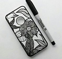 phone case cases sharpie draw drawings drawn cigar cutter handmade carcasas celulares handyman bricolage yourself build craft own projects posca