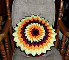 Pretty Fluted Cushion ~ free pattern