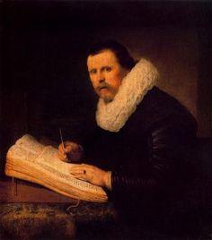 Harmennsz van Rijn Rembrandt  Un estudiante 1671  HERMITAGE