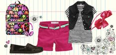 back-to-school outfit for elementary school girl