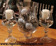 Winter Centerpiece: This is great for the whole winter season not just christmas