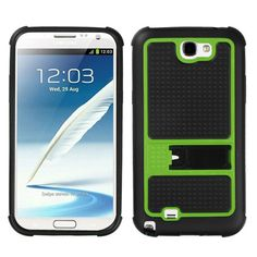 MYBAT Gummy Armor Kickstand Case for Galaxy Note 2 - Green