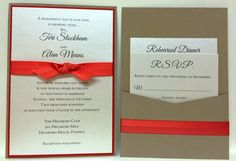 Coral and Tan Wedding Invitation Suite by Fort Lauderdale Invitations - Visit our website for ordering information! Fort Lauderdale * Hollywood * Miami * Palm Beaches * We Ship Worldwide