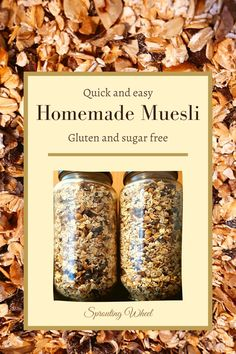 This homemade muesli is so simple to make and hardly takes any time at all. I made this sugar free oat muesli for my husband since he eats muesli for breakfast every day. He used to eat store-bought muesli, but since I made him this homemade muesli, he never wants store-bought again. He prefers his breakfast without any sugar, so this recipe is sugar free. Although when I have my muesli on Saturday morning, I add a small spoonful of sugar. Quick Rolls, Muesli Recipe, Roasted Nuts, Homemade Muesli, Saturday Morning, Tray Bakes, Vegan Gluten Free, Sugar Free, Husband
