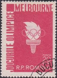 Romania stamp - Melbourne Olympic