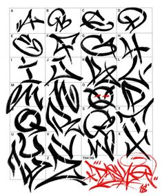 Graffiti Letters: 61 graffiti artists share their styles Graffiti Alphabet Styles, Graffiti Lettering Alphabet, Chicano Lettering, Graffiti Writing, Graffiti Font, Graffiti Tagging, Graffiti Designs, Street Art Graffiti, Graffiti Artists