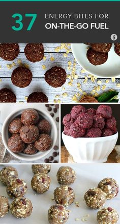 37 Energy Bites Recipes for On-the-Go Snacking energy recipe healthy 54113633000469486 Healthy Protein Snacks, Healthy Sweets, Protein Bars, Healthy Bites, Healthy Food, Protein Energy, Dinner Healthy, Healthy Breakfasts, High Protein