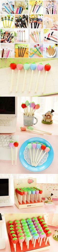 Various Creative Cute Kawaii Gel Pen Writing Stationery School Office Supplies Kids Gift Prize Rewarding