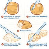 Chopping an Onion - Crunch Feed Food Hacks, Food Tips, How To Cut Onions, Food Should Taste Good, How To Make Guacamole, Snack Recipes, Cooking Recipes, Cooking School, Baking Tips