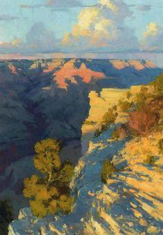 Best for Last by Bill Cramer Oil ~ 36 x 24 (White rock shadows are nice! Western Landscape, Landscape Art, Landscape Paintings, Inspiration Artistique, Park Art, Southwest Art, Paintings I Love, Arte Floral, Western Art