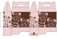 Brown Flowers Free Printable Lunch Boxes.