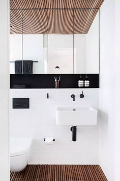 Modern bathroom design idea. Complete your bathroom with the VIGO Aldous Wall Mount Bathroom Faucet! Click to see more | VIGO Industries