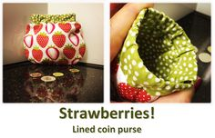 Strawberries! (02) Coin Purses, Strawberries, Coins, Collection, Coin Wallet, Strawberry Fruit, Coining, Rooms, Coin Purse