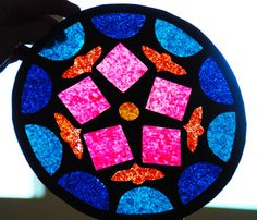 Create a Stained Glass Rose Window Activity Tie in to medieval unit...stained glass windows told stories for those who could not read.