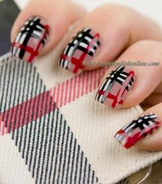 Burberry Nails.. love Burberry everything<3