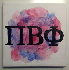 Pi Beta Phi #pibetaphi #letters #watercolors