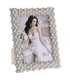 Rama foto alba cu perle, 20x25cm Frame, Decor, Picture Frame, Decoration, Frames, Decorating, Hoop, Deco, Embellishments