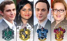 150 celebrities sorted into Hogwarts Houses - I love that Samuel L. Jackson is in Gryffindor :-)
