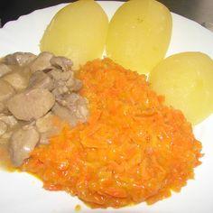 #Dušená #mrkev s #dušeným #masem a #brambory