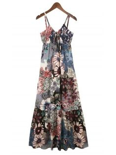 Floral Beach Maxi Dress