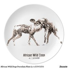 Shop African Wild Dogs Porcelain Plate created by inXSWildlife. African Wild Dog, African Safari, Wild Dogs, Wildlife Photography, Decorative Plates, Porcelain, Dining, Unique, Kitchen