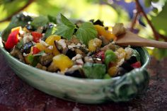 NYT Cooking: Eggplant Salad With Peppers, Mint and Caper-Feta Vinaigrette