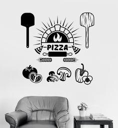 Vinyl Wall Decal Pizza Italian Restaurant Cooking Stickers (ig4075)
