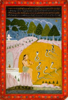 From the Harvard Art Museums' collections Asavari Ragini (painting, recto; text, verso), from a Ragamala (Garland of Melodies) Series Rajasthani Painting, Rajasthani Art, Mughal Paintings, Indian Art Paintings, Indian Traditional Paintings, India Painting, Harvard Art Museum, India Art, Sacred Art