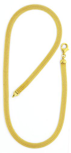Foto 3, Goldkollier Goldkette Strumpf-Muster Oval Gelbgold Shop, K2117