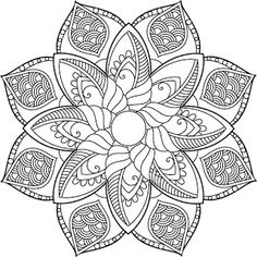 Coloring Pages for Adults - Digital Adult Coloring Books (Mandala)