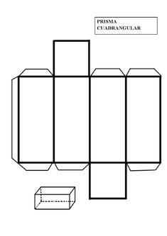 Engeometría, unprismaes unpoliedrocon una basepoligonalde n lados, una copia detraslación(no en el mismo plano que la primera), y otras n caras (todas necesariamente deben serparalelogramos) que une los lados correspondientes de las dos bases. Todas lassecciones transversalesparalelas a las caras de la base son iguales. Los prismas se nombran para su base, por lo que Cube Template, Shape Templates, 3d Shapes Activities, Math Activities, Shapes For Kids, Math For Kids, Patron Cube, 3d Geometric Shapes, Teaching Geometry