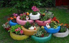 Tires, toilets, junkyard garden :)
