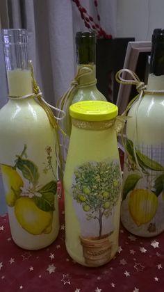 """Μπουκαλια με θεμα """"lemon"""""""