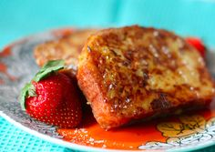 Amaretto French Toast--highly recommend this boozy breakfast. I used a fresh sourdough bread and added some jamaican liquor to the mix to make it extra boozy. Will definitely make again and again.