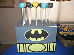 Cake pops at a Superhero Party #superhero #party