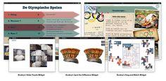 Screenshots from this month's Featured Book: De Olympische Spelen.