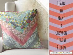 How to Make a Throw Pillow: Free Chevron Pattern from Camelot Fabrics