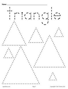 Triangle Worksheet for Kindergarten. 20 Triangle Worksheet for Kindergarten. Kindergarten Math Shapes Worksheets and Activities Shape Tracing Worksheets, Tracing Shapes, Worksheets For Kids, Kindergarten Worksheets, Alphabet Worksheets, Shapes Worksheet Preschool, Tracing Lines, Number Tracing, Printable Preschool Worksheets