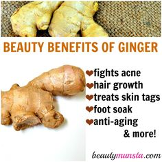 Invigorating, warming, healing & energizing - these are just some of the traits of the miracle ginger root. But did you know the beauty benefits of ginger are Beauty Care, Beauty Hacks, Beauty Tips, Beauty Products, Organic Beauty, Natural Beauty, Natural Face Cream, Ginger Benefits, Natural Health Tips