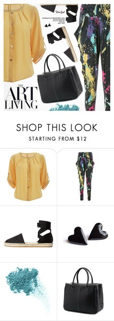 """""""Street Style"""" by pokadoll ❤ liked on Polyvore featuring MANGO and Bare Escentuals"""