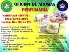 Aromas do Cumbuco: OFICINA DE AROMAS - PERFUMARIA! VAGAS LIMITADAS!