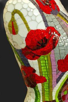 Feuille Glass Bowl by Jess Panza - Ashes & Milk Ceramic Mosaic Tile, Mosaic Art, Mosaic Glass, Mosaics, Mosaic Flower Pots, Mosaic Garden, Mosaic Crafts, Mosaic Projects, Art Perle