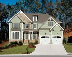Eplans New American House Plan - Two-Story French Country Home - 3068 Square Feet and 4 Bedrooms from Eplans - House Plan Code HWEPL08258
