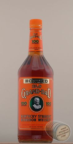 Old Granddad 100: tastes like some fucking good-ass bourbon should.  Astringent, smokey, awesome.