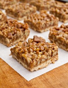 Pecan Shortbread Squares | If you're a fan of Pecan Pie, you're going to love these Pecan Squares. A buttery shortbread crust and rich caramel-pecan topping make them truly over-the-top…the perfect hostess gift, treat for your co-workers or potluck dessert this time of year. | From: onceuponachef.com